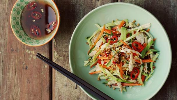 recept voor thaise kipsalade