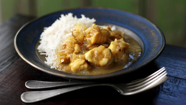 Vis curry recept
