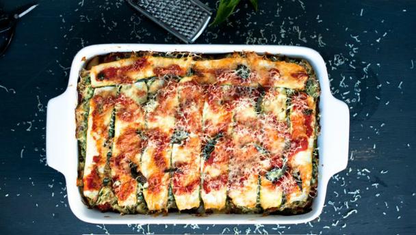 recept met courgette en aubergine