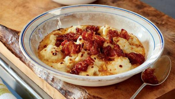 bloemkool recept met pancetta